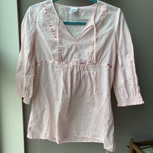 Motherhood light pink maternity blouse size small